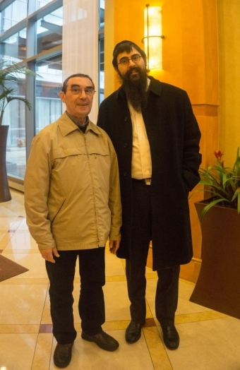 With Rabbi Sender Geisinsky