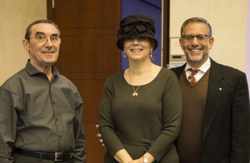 With Rabbi David and Laura Bogart