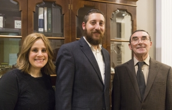 With Rabbi Shaul and Rebbitzen Rosie Perlstein