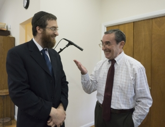 With Rabbi Zalman Fischer