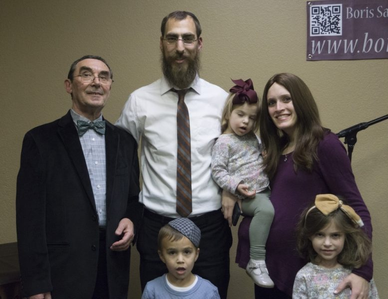 With Rabbi Leibel and Rebbitzen Musie Kesselman