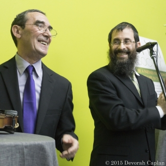With Rabbi Avrohom Stolik