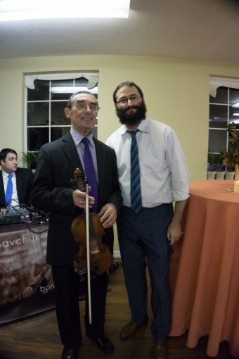 With Rabbi Mendy Dubrowski