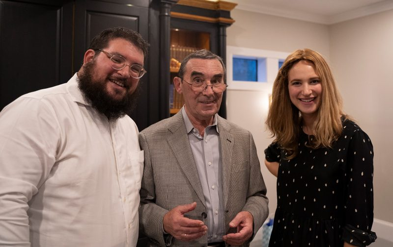 Boris with Rabbi Moshe and Rebbitzen Mushka Cohen