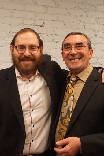 Boris with Rabbi Ari Sollish